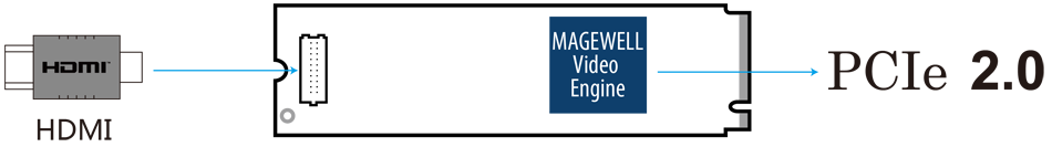 Интерфейсы Magewell Eco Capture HDMI 4K M.2