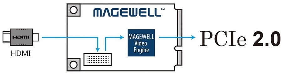 Интерфейсы Magewell Pro Capture Mini SDI